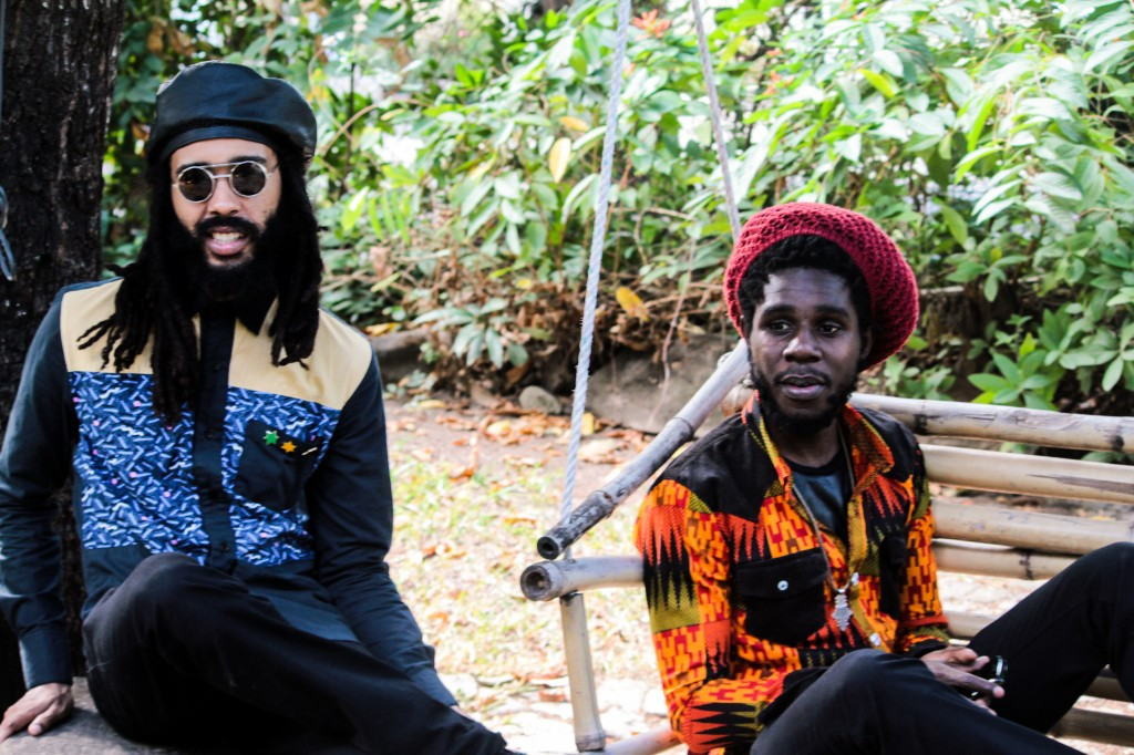 "Protoje & Chronixx on the set of the ""Who Knows"" music video."